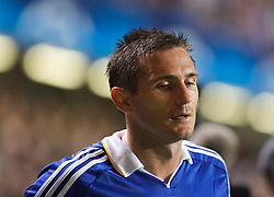 LONDON, ENGLAND - Wednesday, May 6, 2009: Chelsea's Frank Lampard looks dejected as his side crashed out to Barcelona during the UEFA Champions League Semi-Final 2nd Leg match at Stamford Bridge. (Photo by Carlo Baroncini/Propaganda)