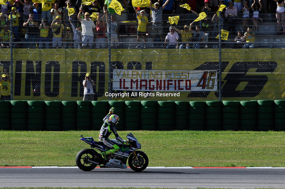 14.09.2014.  Misano, San Marino. MotoGP. San Marino Grand Prix. Valentino Rossi (Movistar Yamaha)during the race.