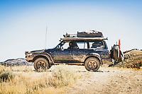 Steve Jackson of Pleasant Grove, Utah, 1990 Landcruiser HDJ81 (Japanese rightside steering), Eureka, Utah. part of an overland group who traveled from Green River to Salt Lake City for Cruiser Fest 16.