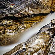 layered rock detail, upper falls of bruar, Pitagowan, Perthshire, Scotland