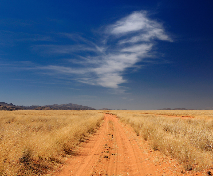 Sand road near Purros, Kaokoland, Kunene Region, Namibia...