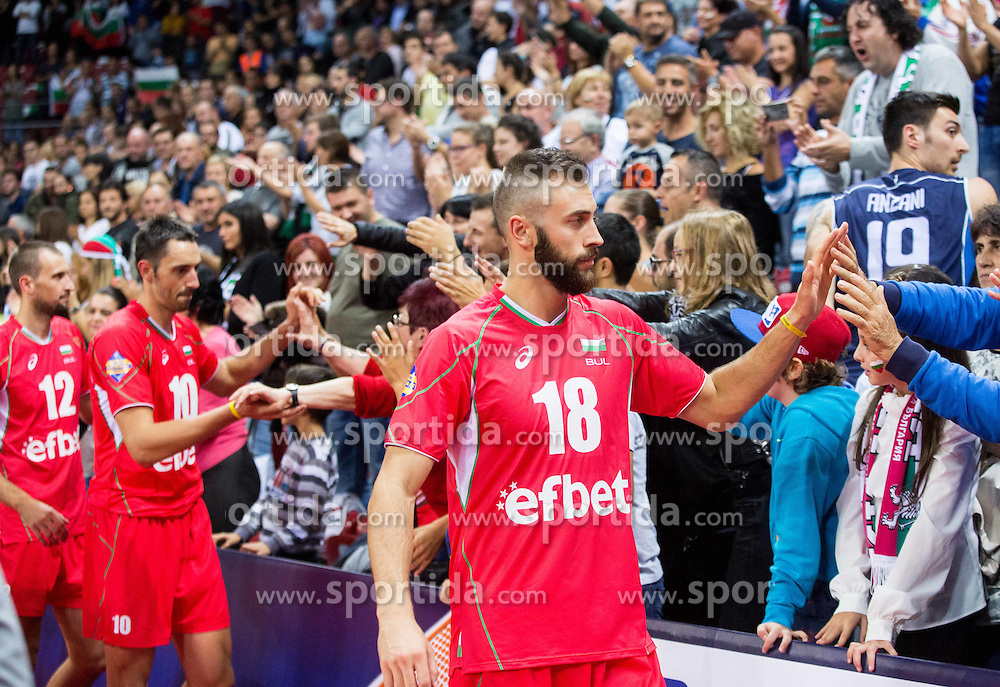 Nikolay Nikolov of Bulgaria after the volleyball match between National teams of Bulgaria and Italy at Third place match of 2015 CEV Volleyball European Championship - Men, on October 18, 2015 in Arena Armeec, Sofia, Bulgaria. Photo by Vid Ponikvar / Sportida