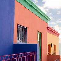 The colorful Bo-Kaap neighborhood is an historical center of Cape Malay culture in Cape Town, South Africa.