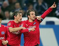 Fotball<br /> Bundesliga<br /> 02.03.2007<br /> Foto: Witters/Digitalsport<br /> NORWAY ONLY<br /> <br /> Jubel 0:1 v.l. Ivica Olic, Rafael van der Vaart<br /> Bundesliga FC Schalke 04 - Hamburger SV 0:2