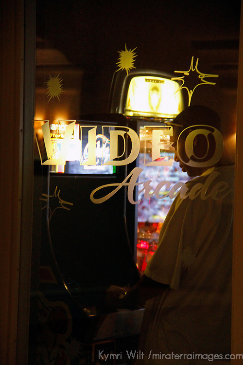USA, Florida, Orlando. The video arcade at  Rosen Shingle Creek Resort.