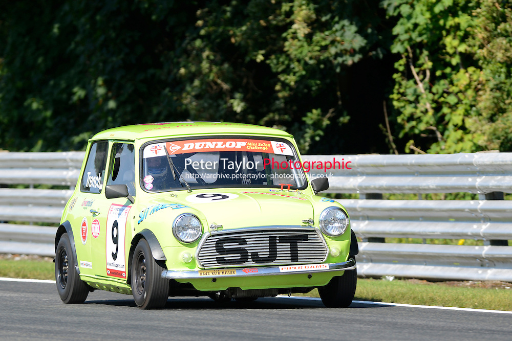 #9 Steve Trench Mini 7 during Mini Se7en - Qualifying as part of the Mini Festival  at Oulton Park, Little Budworth, Cheshire, United Kingdom. August 08 2015. World Copyright Peter Taylor. Copy of publication required for printed pictures.  Every used picture is fee-liable. http://archive.petertaylor-photographic.co.uk