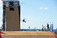 Rony Gomes during Skate Big Air Practice at 2014 X Games Austin in Austin, TX.    ©Brett Wilhelm/ESPN