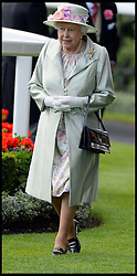 Image ©Licensed to i-Images Picture Agency. 18/06/2014. Ascot, United Kingdom. The Queen arrives at Royal Ascot- Day 2, Ascot Racecourse. Picture by Andrew Parsons / i-Images
