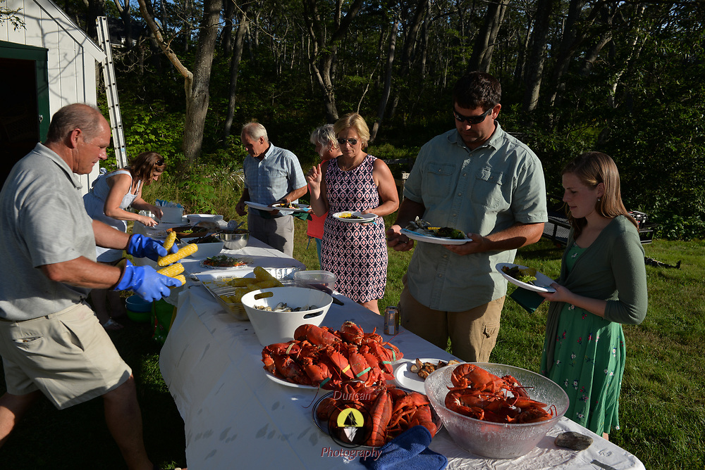 CAPE ELIZABETH, Maine -- 8/10/18 -- Poole Family Lobster Bake and reunion day.