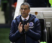Brighton Manager Chris Hughton during the Sky Bet Championship match between Brighton and Hove Albion and Derby County at the American Express Community Stadium, Brighton and Hove, England on 3 March 2015. Photo by Phil Duncan.