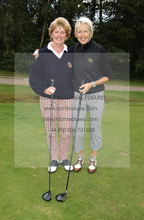 Left to right, sisters HELEN McCARTHY and MARIE JORDAN wife of Eddie Jordan at the Laurent-Perrier charity golf day held at Foxhills golf Club, Surrey in aid of the charity CLIC on 14th September 2004.<br /><br />NON EXCLUSIVE - WORLD RIGHTS