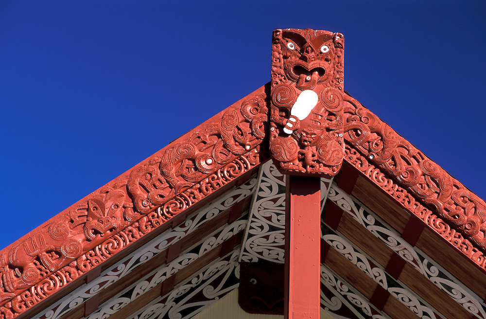 Meeting House, Maori Arts and Crafts Institute, Rotorua, North Island, New Zealand