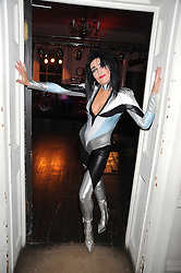 SIOUXSIE SIOUX at a Halloween party hosted by Alexa Chung and Browns Focus held at the House of St.Barnabas, 1 Greek Street, London on 31st October 2008.