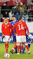 Die Spieler Goekhan Inler, Hannu Tihinen und Almen Abdi nach Spielschluss. © Valeriano Di Domenico/EQ Images