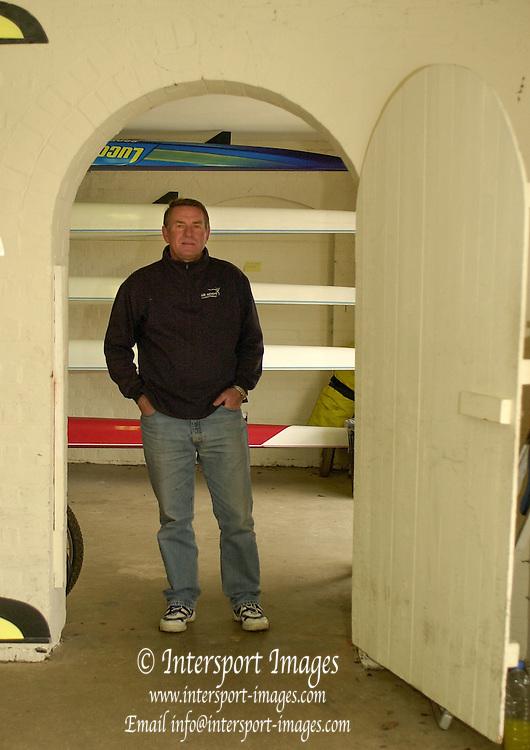 Henley. England, GB Rowing crews training on Henley Reach.<br /> Photo Peter Spurrier.<br /> 11/03/2004 - British International Rowing -<br /> British International chief rowing coach - Jurgan Grobler..   [Mandatory Credit. Peter SPURRIER/Intersport Images]