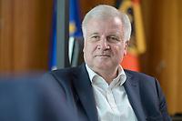01 JUL 2019, BERLIN/GERMANY:<br /> Horst Seehofer, CSU, Bundesinnenminister, waehrend einem Interview, in seinem Buero, Bundesministerium des Inneren<br /> IMAGE: 20190701-01-037<br /> KEYWORDS: Büro
