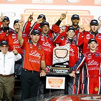 February 25, 2017 - Daytona Beach, Florida, USA: Ryan Reed (16) wins the PowerShares QQQ 300 at Daytona International Speedway in Daytona Beach, Florida.