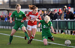 Ella Rutherford of Bristol City fouls Bonnie Horwood of Yeovil Town Ladies - Mandatory by-line: Nizaam Jones/JMP - 27/01/2019 - FOOTBALL - Stoke Gifford Stadium - Bristol, England - Bristol City Women v Yeovil Town Ladies- FA Women's Super League 1