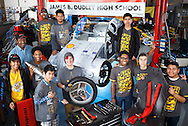 "The James B. Dudley High School Advanced Vehicle Technologies or ""AVT"" Team in their shop located on the Dudley High campus, March 5, 2016, in Greensboro, N.C. The unique program prepares students to take part in the Shell Eco-marathon, a competition where student teams from around the world design, build, test and drive ultra-energy-efficient vehicles. The team, lead by program founder and Dudley teacher Rick Lewis, prides themselves on hard work, overcoming challenges, and for creatively building vehicles out of re-used and re-purposed parts."