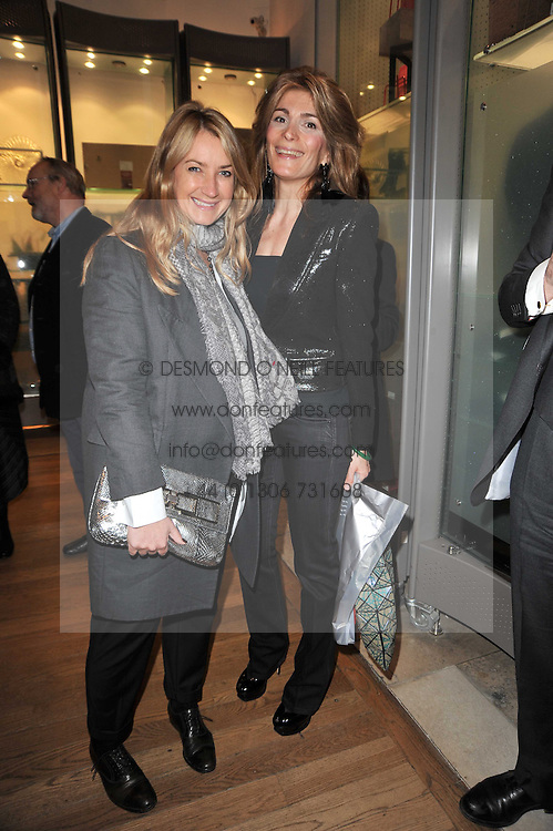 Left to right, ANYA HINDMARCH and MARYAM SACHS at a private view of the Royal Academy's Modern British Sculpture exhibition held at Burlington House, Piccadilly, London on 18th January 2011.