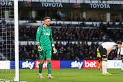 Derby County goalkeeper Ben Hamer (12) during the EFL Sky Bet Championship match between Derby County and Millwall at the Pride Park, Derby, England on 14 December 2019.