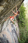 "Adam Ondra climbing ""Les Tres Panes"" 8c/14b at Pelvoux near Briancon France."