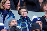 HRH The Princess Royal before the Guinness Six Nations match between Scotland and Wales at BT Murrayfield Stadium, Edinburgh, Scotland on 9 March 2019.