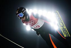 February 12, 2018 - Pyeongchang, SOUTH KOREA - 180212 Daniela Iraschko-Stolz of Austria competes in Ski Jumping, Women's Normal Hill Individual Final, during day three of the 2018 Winter Olympics on February 12, 2018 in Pyeongchang..Photo: Joel Marklund / BILDBYRÃ…N / kod JM / 87619 (Credit Image: © Joel Marklund/Bildbyran via ZUMA Press)
