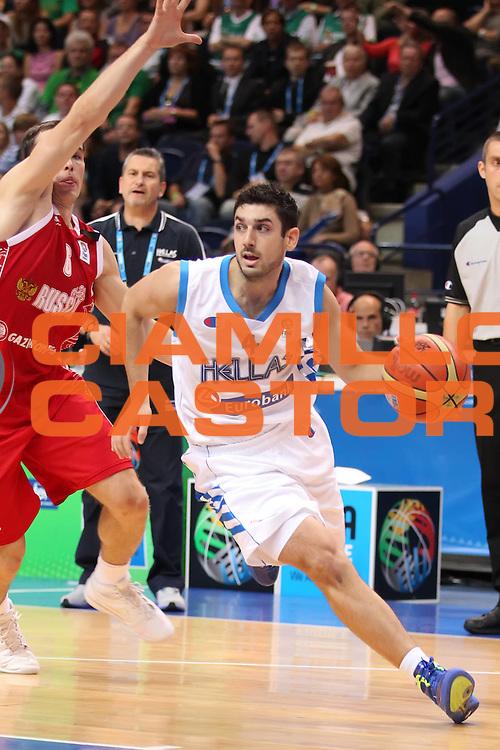 DESCRIZIONE : Vilnius Lithuania Lituania Eurobasket Men 2011 Second Round Grecia Russia Greece Russia<br /> GIOCATORE : Vasileios Xanthopoulos<br /> SQUADRA : Grecia Greece<br /> EVENTO : Eurobasket Men 2011<br /> GARA : Grecia Russia Greece Russia<br /> DATA : 10/09/2011<br /> CATEGORIA : palleggio<br /> SPORT : Pallacanestro <br /> AUTORE : Agenzia Ciamillo-Castoria/ElioCastoria<br /> Galleria : Eurobasket Men 2011<br /> Fotonotizia : Vilnius Lithuania Lituania Eurobasket Men 2011 Second Round Grecia Russia Greece Russia<br /> Predefinita :