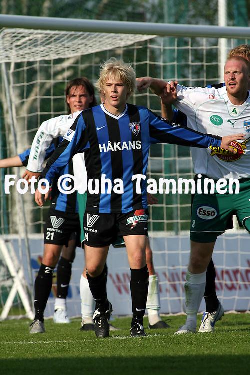 27.05.2007, Wikl?f Holding Arena, Mariehamn, Finland..Veikkausliiga 2007 - Finnish League 2007.IFK Mariehamn - FC Inter Turku.Joni Aho - Inter.©Juha Tamminen.....ARK:k