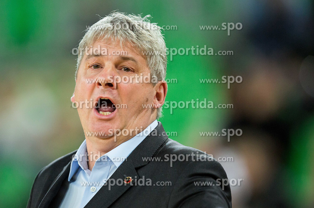 Ales Pipan, head coach of KK Union Olimpija during basketball match between KK Union Olimpija and MZT Skopje Aerodrom in 10th Round of ABA League 2014/15, on November 29, 2014 in Arena Stozice, Ljubljana, Slovenia. Photo by Vid Ponikvar / Sportida