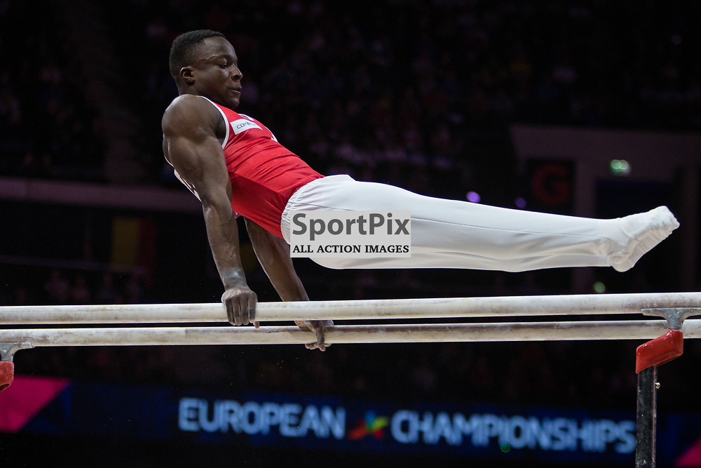 Henji Mboyo of Switzerland Gymnastics Team Men Qualification - 2018 European Championships Glasgow, 9 August 2018. (c) Adam Oliver | sportPix.org.uk