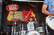 Pierce The Veil, a San Diego based post-hardcore band, performs at the 2012 San Francisco Vans Warped Tour stop. The music festival was held at the lot near AT&T Park in downtown San Francisco on Saturday, June 23, 2012. Approximately 80 bands performed on seven stages.