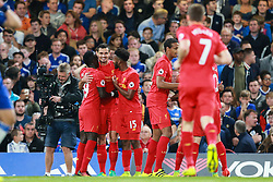 Liverpool celebrate Dejan Lovren of Liverpool goal, Chelsea 0-1 Liverpool - Mandatory by-line: Jason Brown/JMP - 16/09/2016 - FOOTBALL - Stamford Bridge - London, England - Chelsea v Liverpool - Premier League