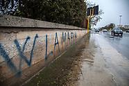 Scritta W La Mafia sui muri di Palermo