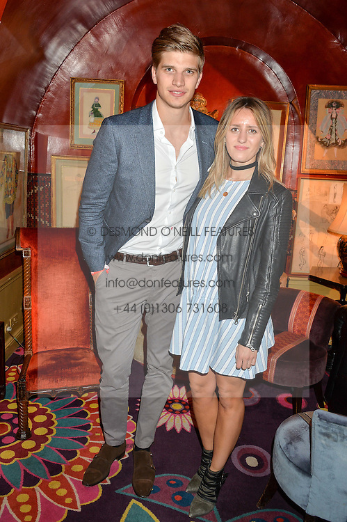 TOBY HUNTINGTON-WHITELEY and CICILY BROWN at an intimate performance by Jessie Ware at Annabel's, Berkeley Square, London on 20th April 2016.