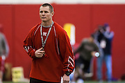 March 27, 2013: Strength Coach James Dobson during practice at Hawks Championship Center in Lincoln, Nebraska.