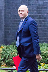 London, November 14 2017. Secretary of State for Communities and Local Government Sajid Javid attends the UK cabinet meeting at Downing Street. © Paul Davey