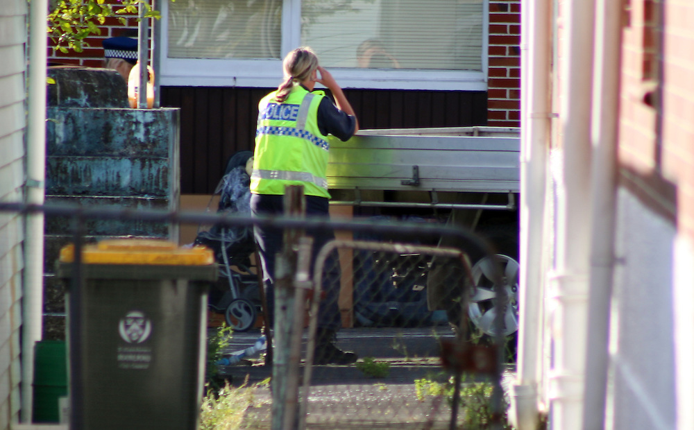 Police are investigating a tragic incident where an 18 month old girl has been run over in the driveway at an address in Massey Rd, Mangere, Auckland, New Zealand, Saturday, December 06, 2014. Credit:SNPA / Daniel Hines