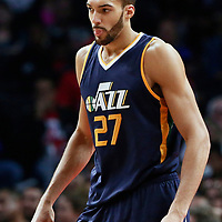 25 March 2016: Utah Jazz center Rudy Gobert (27) is seen during the Los Angeles Clippers 108-95 victory over the Utah Jazz, at the Staples Center, Los Angeles, California, USA.