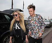 Betsy-Blue English of Only the Young & Casey Johnson of the Stereo Kicks leaving the Grand Hotel, Brighton & Hove, United Kingdom on 16 March 2015. Photo by Phil Duncan.