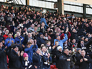 Dundee fans celebrate Gary Irvine's goal -  Aberdeen v Dundee, SPFL Premiership at Pittodrie<br /> <br /> <br />  - &copy; David Young - www.davidyoungphoto.co.uk - email: davidyoungphoto@gmail.com