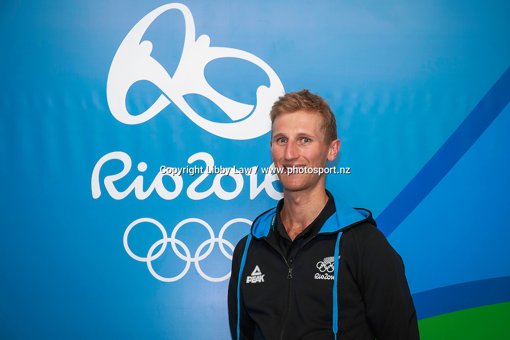 Alistair Bond: Press Conference: ROWING and Rob Waddell, New Zealand Chef de Mission. MPC Rio 2016 Olympic Games, Monday 1 August. CREDIT: Libby Law / www.photosport.nz