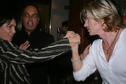 Sadie Frost, Dr. Nish Joshi and Nicky Clarke. Book launch for Dr. Joshi's Holistic Dett. The Arts Club, 40 Dover st. London. 26 May 2005. ONE TIME USE ONLY - DO NOT ARCHIVE  © Copyright Photograph by Dafydd Jones 66 Stockwell Park Rd. London SW9 0DA Tel 020 7733 0108 www.dafjones.com