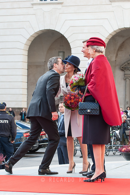 03.10.2017. Copenhagen, Denmark. <br /> Crown Prince Frederik, Princess Marie, Prince Joachim, Princess Benedikte attended the opening session of the Danish Parliament (Folketinget) at Christiansborg Palace in Copenhagen, Denmark.<br /> Photo: &copy; Ricardo Ramirez