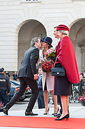 03.10.2017. Copenhagen, Denmark. <br /> Crown Prince Frederik, Princess Marie, Prince Joachim, Princess Benedikte attended the opening session of the Danish Parliament (Folketinget) at Christiansborg Palace in Copenhagen, Denmark.<br /> Photo: © Ricardo Ramirez