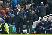Leeds United manager, Steve Evans remonstrates with the 4th official after Brighton & hove Albion penalty is awarded  during the Sky Bet Championship match between Brighton and Hove Albion and Leeds United at the American Express Community Stadium, Brighton and Hove, England on 29 February 2016. Photo by Simon Davies.