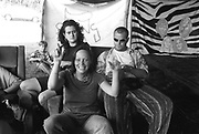 Hippies Back Stage, Exodus Free Festival, Luton, 1997.
