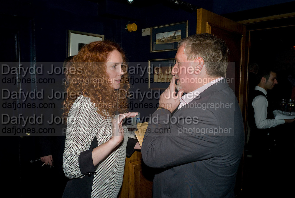 REBEKAH WADE; SIMON KELNER, Book launch for Citizen by Charlie Brooks. Tramp. London. 1 April  2009