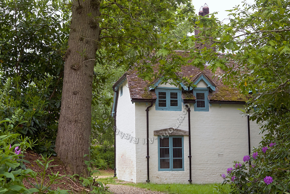 """Open to the public, an elegant cottage and former home of T. E. Lawrence, (""""Lawrence of Arabia"""") Clouds Hill, is located near Wool, Dorset, southwest England."""